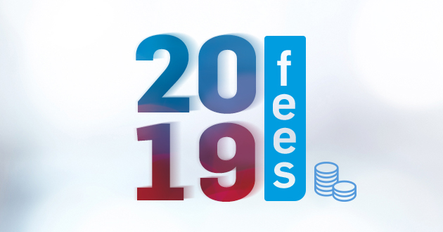 our 2019 fees